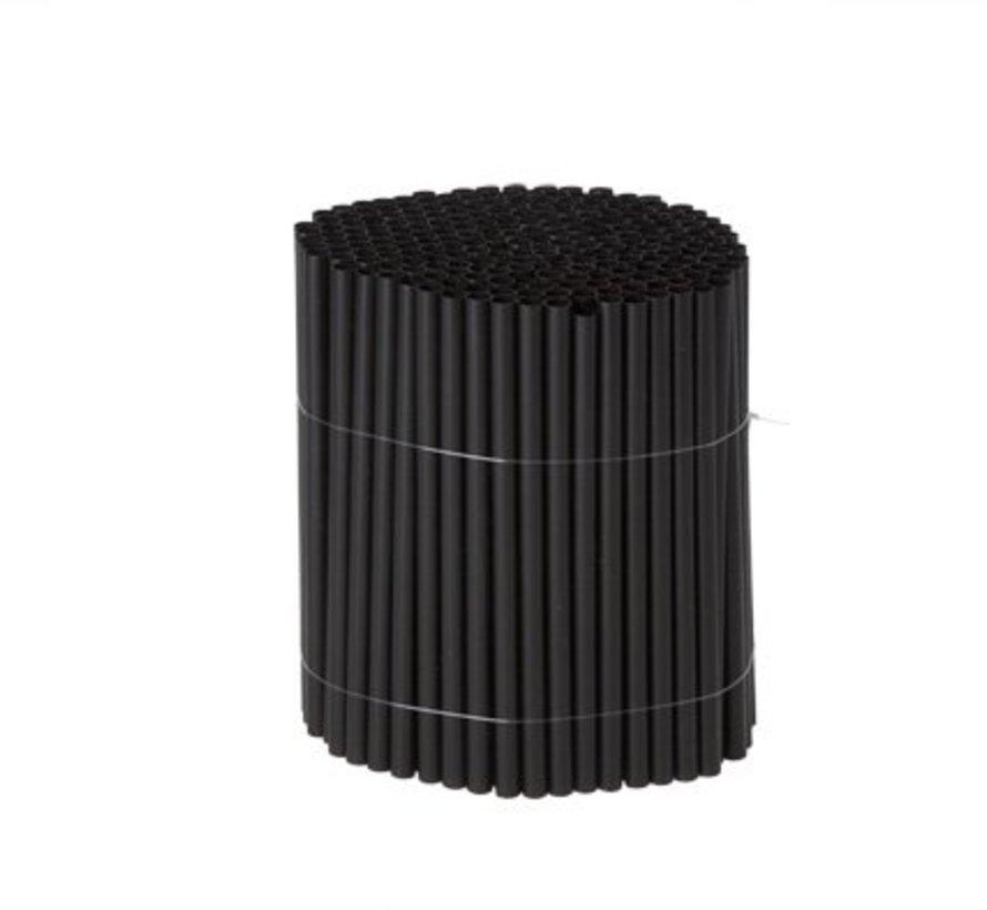 Rietjes S225 Zwart 14cm 7mm