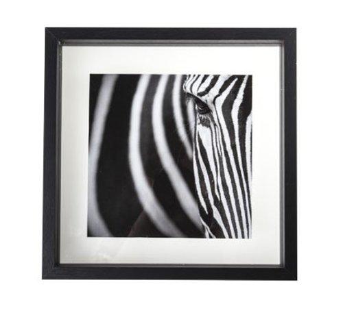 Cosy @ Home Fotokader  Zwart Hout 30x4x30cmglas (set van 6)