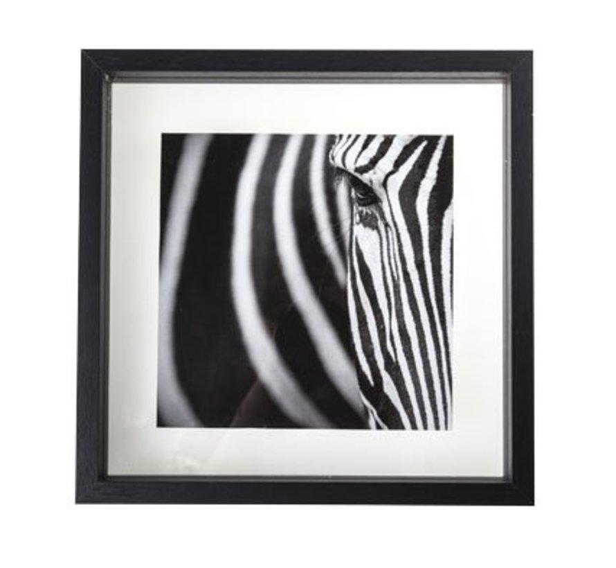Photoframe Black Wood 30x4x30cmglass (set of 6)