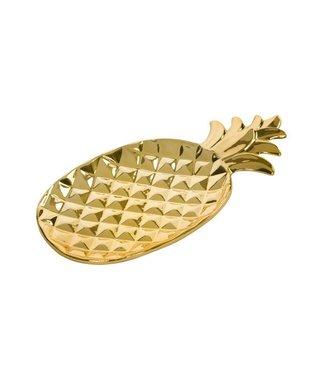 Cosy & Trendy Pineapple Gold Deco-plate 29x15.5cm
