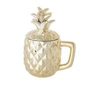 Cosy & Trendy Pineapple Gold Deco Beker D9xh10-17.5cm