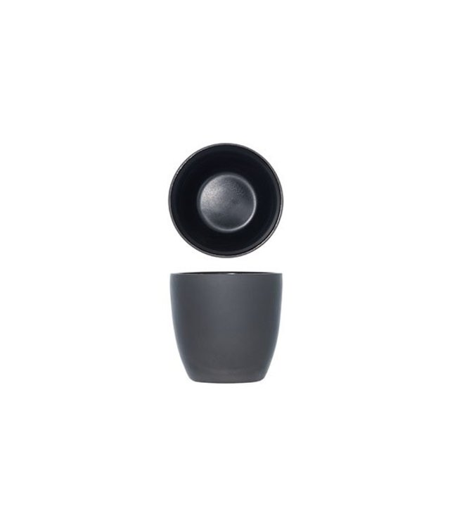 Cosy & Trendy 1350 - Koffietassen - Zwart - 18cl - Porselein - (set van 6)