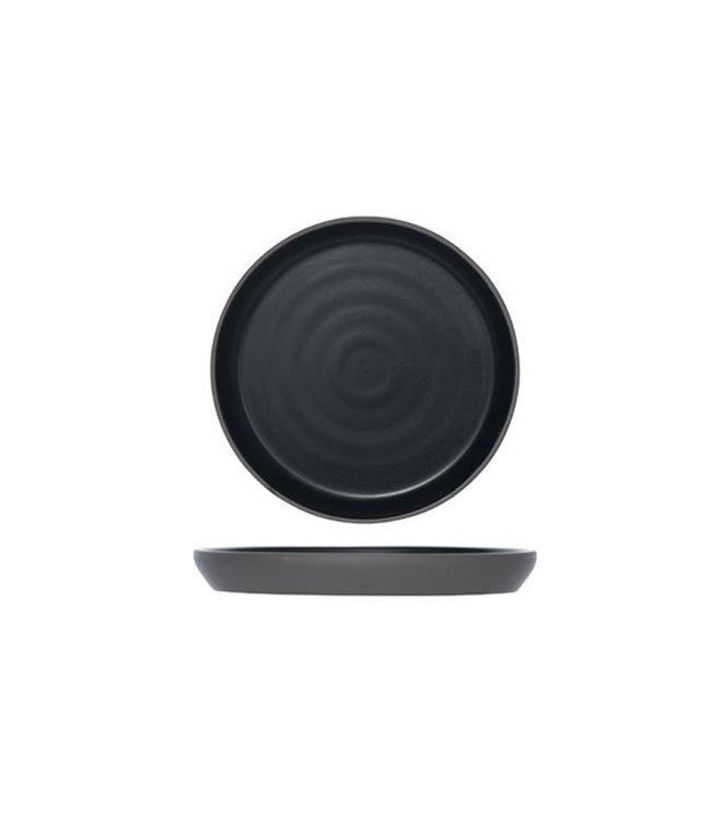 Cosy & Trendy 1350-Zwart - Koffieschotels - D14.5cm - Porselein - (set van 6)