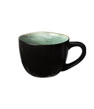Cosy & Trendy Finesse Green Coffee Cup 18cl Pottery - (set of 6)