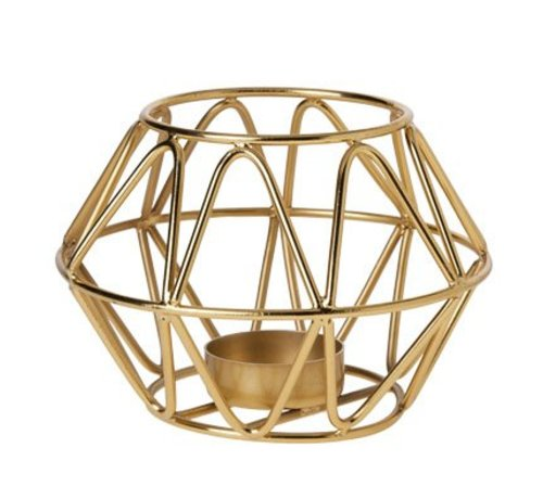 Cosy @ Home Thee-lichthouder Goud 8.5cm