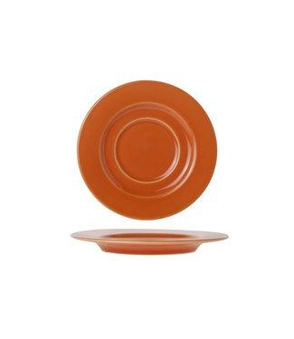 Brandless Eva Orange Koffie Schotel D14.5cm