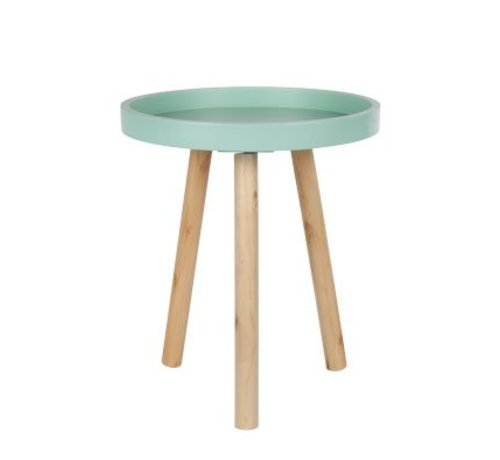 Cosy @ Home Tafel Rond Hout Blauw 30x30x36cm