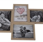 Cosy @ Home Love Photoframe 4pict Nature Wood 45,8x2xh34cm