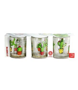 Cerve Cactus - Glazen - 25cl - (Set van 6)