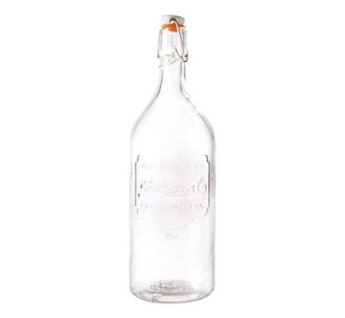 Cosy & Trendy Fles Glas Met Afsluitklem D9xh27.5cm
