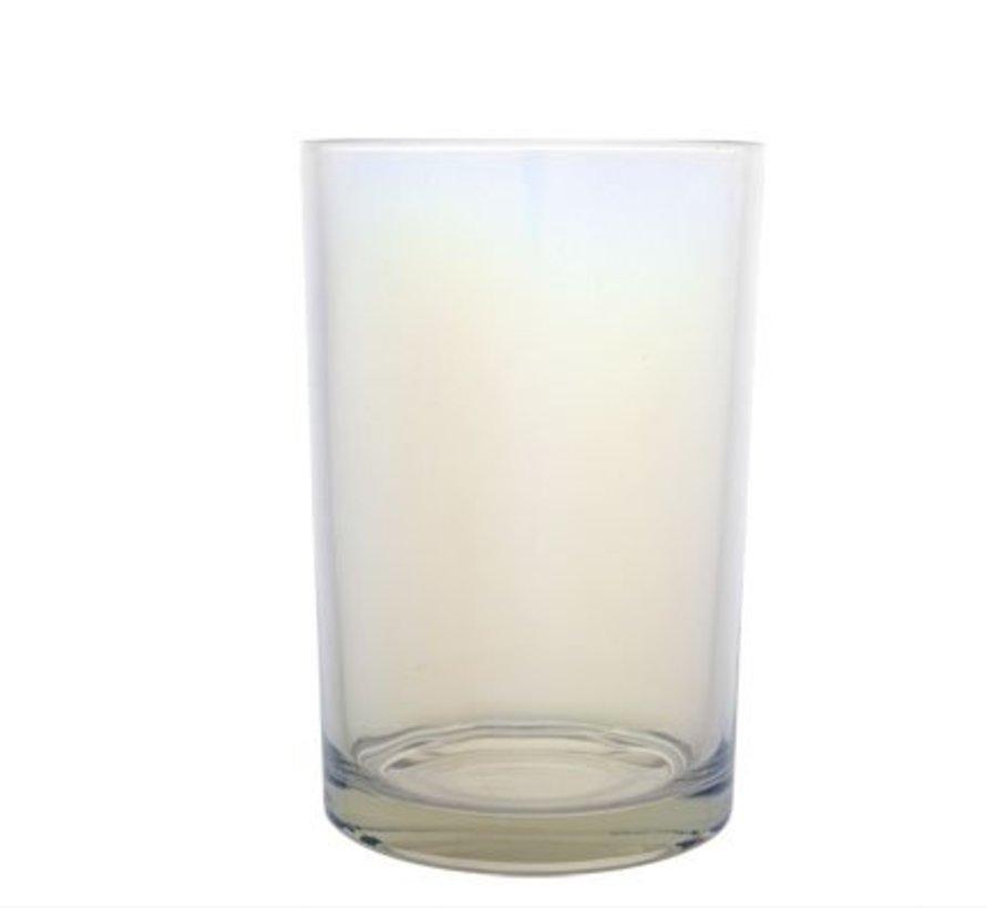 Theelichth. Clear Glas 12xh18cm