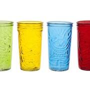 Cosy & Trendy Tiki Drinkglas 9x16cm Gekleurd Set4