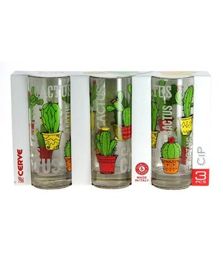 Cerve Cactus Longdrink Glass 36.5 Cl Set 3
