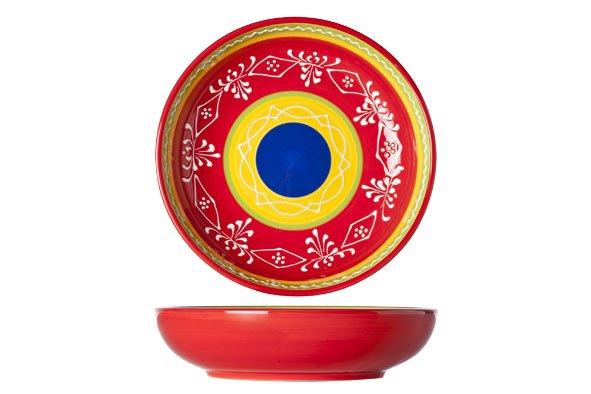 Cosy & Trendy Sombrero Red Bord D20xh5cm (set van 4)