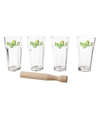 Cosy & Trendy Mojito Set 4 GlÄser Mit StÖsselmojito Set 4 Glass Cup With Muddler