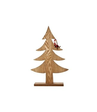 Cosy @ Home Kerstboom Kerstman Hout Natuur 26x5x41cm