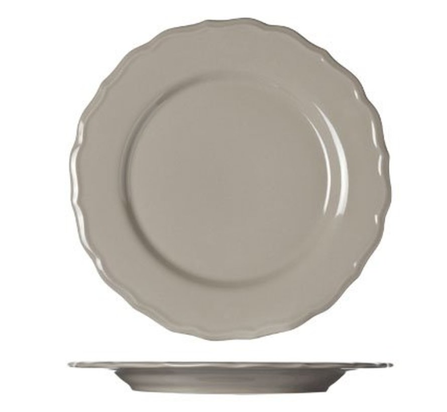 Julia Taupe Flat Plate D28cm