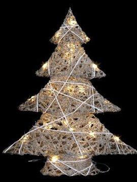 Cosy @ Home Xmas Tree Snowy String 25led51x14xh60cm - Excl 3aa Batt
