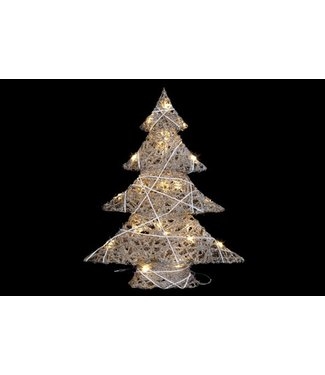 Cosy @ Home Kerstboom Snowy String 25led51x14xh60cm - Excl 3aa Batt