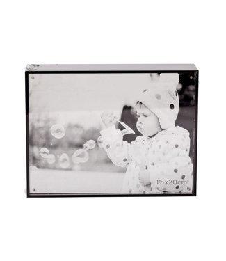 Cosy @ Home Cube Photoframe Black Wood 16x21xh4cmphoto 15x20cm
