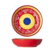 Cosy & Trendy Sombrero Red Bord D15xh3.8cm (set van 4)