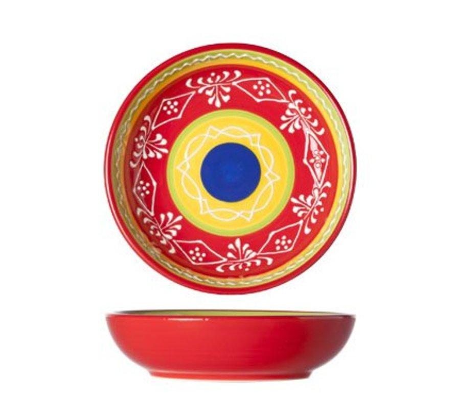 Sombrero Red Plate D15xh3.8cm (4er Set)