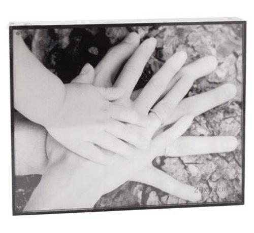 Cosy @ Home Cube Fotokader Zwart Hout 21x26x4cmfoto 20x25cm