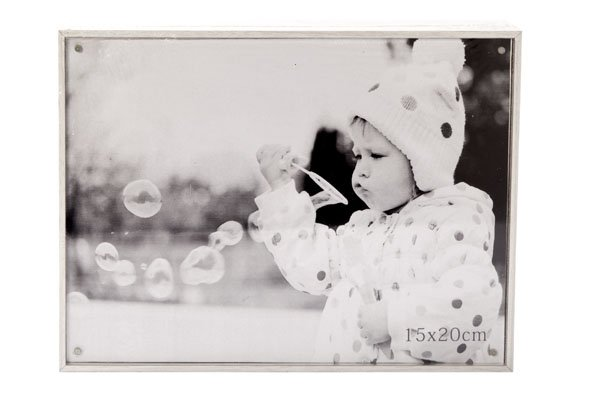 Cosy @ Home Cube Fotokader White Hout 16x21xh4cmfoto 15x20cm
