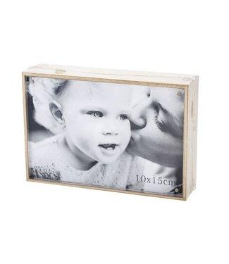 Cosy @ Home Cube Photoframe Nature Wood 11x16xh4cmphoto 15x10cm