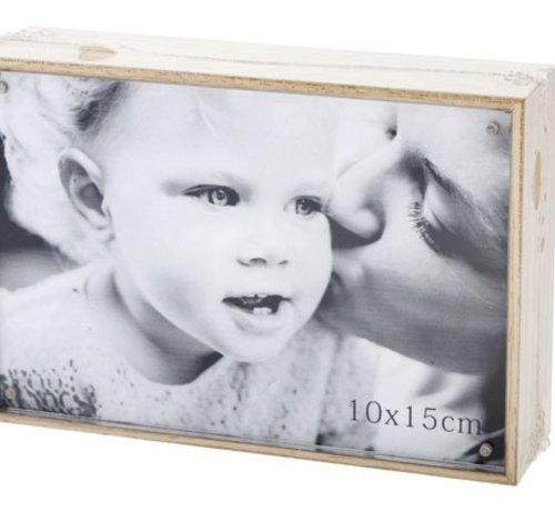 Cosy @ Home Cube Bilderrahmen Natur Holz 11x16xh4cmfoto 15x10cm
