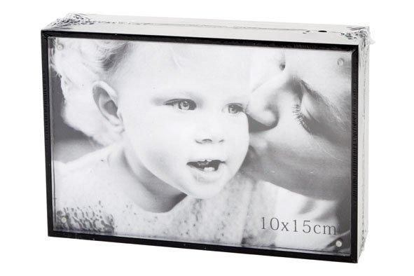 Cosy @ Home Cube Photoframe Black Wood 11x16xh4cmphoto 15x10cm