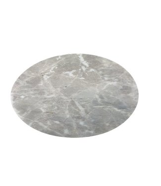 Cosy & Trendy Table Mat Marble Look Grey Round 38cmpet (12er Set)