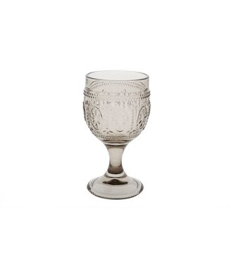 Cosy & Trendy Victoria Brown Wine Glass 20cl D8,5x15cm (set of 4)