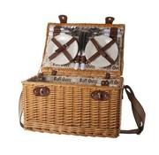 Cosy & Trendy Picknickmand 4p-bestek-borden-glazen-flesopener-p.z 45x31x24cm