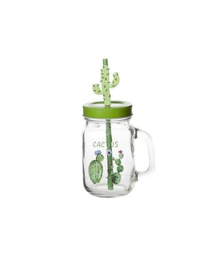 Cosy & Trendy Jar With Handle - Transparent - D7xh13cm - Glass - (set of 6).