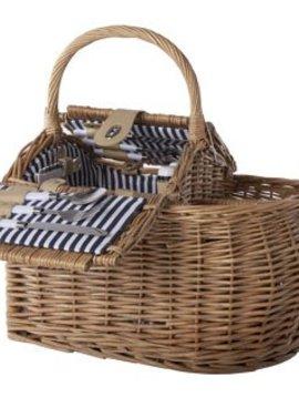Cosy & Trendy Picnic Basket 2p - Cutlery-plates-glasse-corkscrew P S  44x28x23-29-40cm