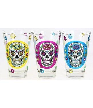 Cerve Mexican Skull Nadia - Drinkglazen - 31cl - (Set van 6)