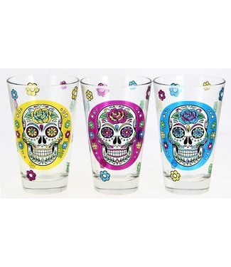 Cerve Mexican Skull Nadia - Drinking glasses - 31cl - (Set of 6)