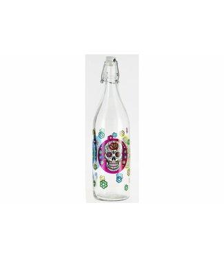 Cerve Lory Decor Mexican Skull - Bottles - 1Liter - (Set of 6)