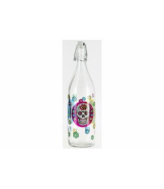 Cerve Lory Decor Mexican Skull - Flessen - 1Liter - (Set van 6)