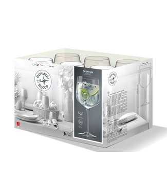 Bormioli Premium Cocktail-gin  76 Cl Set 6 (5+1 )opËn Doos