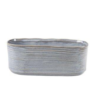 Cosy @ Home Planter Gray Oval Stoneware 25x11xh10