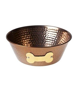 Cosy & Trendy Eat drink bowl Dog - Copper - D15xh6cm - Metal.
