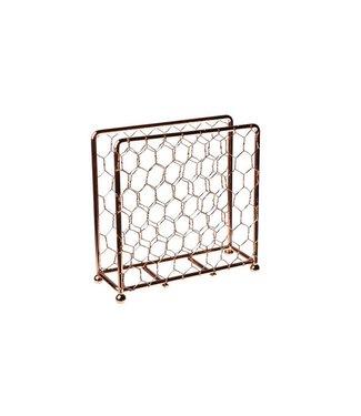 Cosy & Trendy Napkin holder - Copper - 15x5xh15cm - Metal - (set of 2).