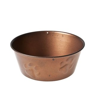 Cosy & Trendy Dogbowl Copper W Paw Embossing D15xh6cm