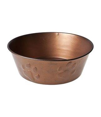 Cosy & Trendy Eat drink bowl Dog - Copper - 23xh8cm - Metal.