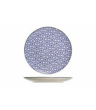 Cosy & Trendy Piatto da Tavola Blu D20cm - Ceramica - (Set di 6)