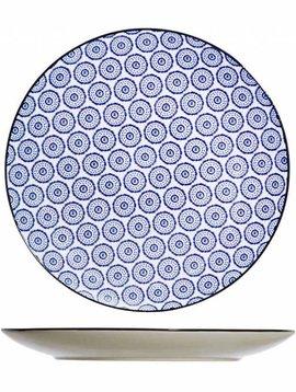 CT Piatto piano tavola blu D26cm