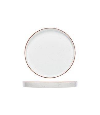 Cosy & Trendy Copenhague Speckle Dessertborden - Porselein -  D21cm (Set van 6)
