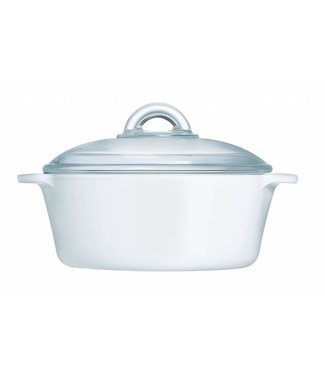 Luminarc Blooming Flamefour Wit Cocotte 2 L - Glas